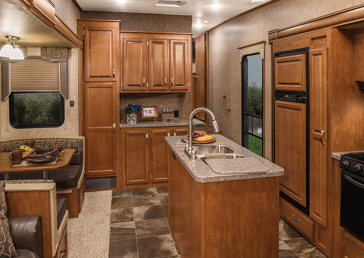 kitchen cabinet features 2016 durango 2500 d346bhq profile fifth wheel kz rv 2500