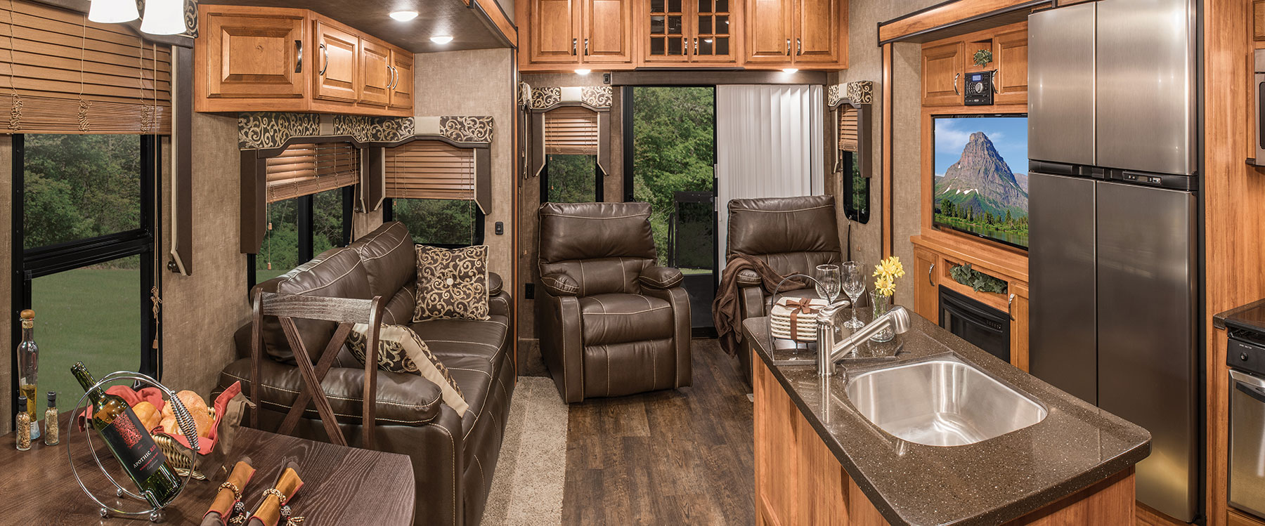 2016 durango gold g382mbq fulltime luxury fifth wheel kz rv - 2016 luxury front living room 5th wheel ...