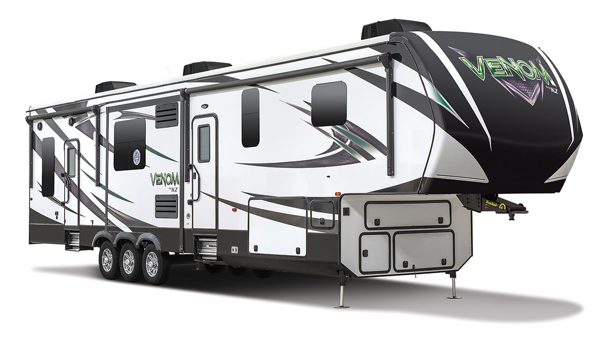 2016 Venom V3911tk Luxury Fifth Wheel Toy Hauler Kz Rv