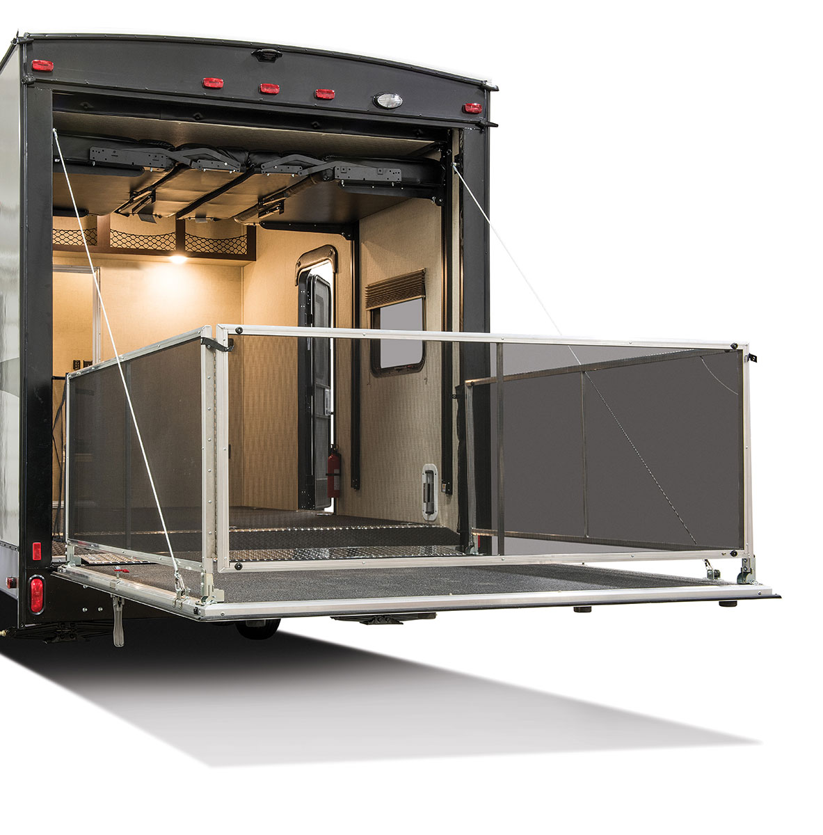 Toy Hauler With Outdoor Kitchen: Sportster Toy Hauler Travel Trailer
