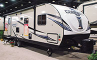 2018 KZ RV Connect C261RB Travel Trailer Show Exterior Front 3-4 Door Side