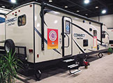 2018 KZ RV Connect C261RB Travel Trailer Show Exterior Rear 3-4 Door Side