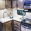2018 KZ RV Connect C261RB Travel Trailer Kitchen-Cabinets in Fossil Decor
