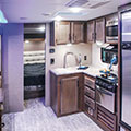 2018 KZ RV Connect C261RB Travel Trailer Kitchen in Fossil Decor
