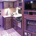 2018 KZ RV Connect C261RL Travel Trailer Kitchen in Seal Decor