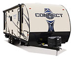 2018 KZ RV Connect C261RL Travel Trailer Exterior Front 3-4 Door Side