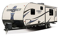 2018 KZ RV Connect C261RL Travel Trailer Exterior Front 3-4 Off Door Side