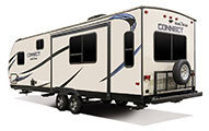 2018 KZ RV Connect C261RL Travel Trailer Exterior Rear 3-4 Off Door Side