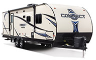 2018 KZ RV Connect C271BHK Travel Trailer Exterior Front 3-4 Door Side