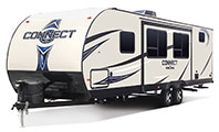 2018 KZ RV Connect C271BHK Travel Trailer Exterior Front 3-4 Off Door Side