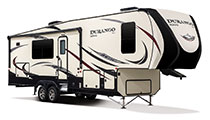2018 KZ RV Durango D315RKD Fifth Wheel Show Exterior Front 3-4 Door Side