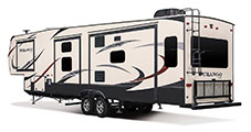 2018 KZ RV Durango D343MBQ Fifth Wheel Exterior Rear 3-4 Off Door Side