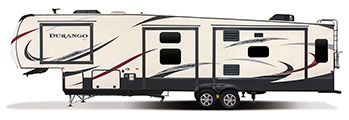 2018 KZ RV Durango D343MBQ Fifth Wheel Exterior Side Profile Off Door Side