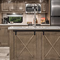 2018 KZ RV Durango Gold G384RLT Fifth Wheel Kitchen Island