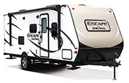 2018 KZ RV Escape E191SS Travel Trailer Exterior Front 3-4 Door Side