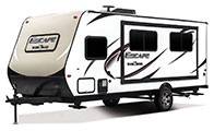 2018 KZ RV Escape E191SS Travel Trailer Exterior Front 3-4 Off Door Side