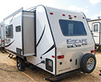 2018 KZ RV Escape Mini M181RK Travel Trailer Exterior Rear 3-4 Off Door Side