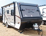 2018 KZ RV Sportsmen Classic 160RBT Travel Trailer Show Exterior Front 3-4 Door Side