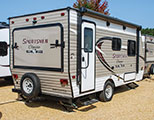 2018 KZ RV Sportsmen Classic 160RBT Travel Trailer Show Exterior Rear 3-4 Door Side