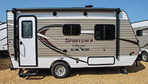 2018 KZ RV Sportsmen Classic 160RBT Travel Trailer Show Exterior Side Profile Door Side