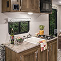 2018 KZ RV Sportsmen Classic 160RBT Travel Trailer Kitchen Cabinets