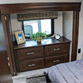 2018 KZ RV Sportsmen 262RLK Fifth Wheel Bedroom Cabinets