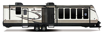 2018 KZ RV Sportsmen 363FL Destination Travel Trailer Exterior Side Profile Door Side