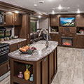 2018 KZ RV Sportsmen 363FL Destination Travel Trailer Kitchen