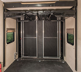 Sportster Enclosed Garage Area Overhead