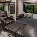2018 K-Z RV Spree S333RLF Travel Trailer Sofa Down