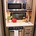 2018 KZ RV Venom V4012TK Fifth Wheel Toy Hauler Kitchen Countertop in Nighthawk Decor