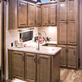 2018 KZ RV Venom V4012TK Fifth Wheel Toy Hauler Kitchen in Nighthawk Decor