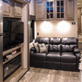2018 KZ RV Venom V4012TK Fifth Wheel Toy Hauler Sofa in Nighthawk Decor