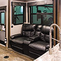 2018 KZ RV Venom V4012TK Fifth Wheel Toy Hauler Theater Seating in Nighthawk Decor