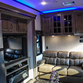 2018 KZ RV Venom V4012TK Fifth Wheel Toy Hauler Blue Accent Lighting
