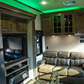 2018 KZ RV Venom V4012TK Fifth Wheel Toy Hauler Green Accent Lighting