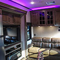 2018 KZ RV Venom V4012TK Fifth Wheel Toy Hauler Purple Accent Lighting