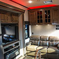 2018 KZ RV Venom V4012TK Fifth Wheel Toy Hauler Red Accent Lighting