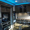 2018 KZ RV Venom V4012TK Fifth Wheel Toy Hauler Turquoise Accent Lighting