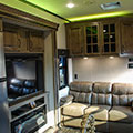 2018 KZ RV Venom V4012TK Fifth Wheel Toy Hauler Yellow Accent Lighting