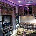 2018 KZ RV Venom V4012TK Fifth Wheel Toy Hauler Entertainment Center