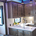 2018 KZ RV Venom V4012TK Fifth Wheel Toy Hauler Kitchen Cabinets