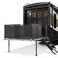 2018 KZ RV Venom V4013TK Fifth Wheel Toy Hauler Exterior Patio