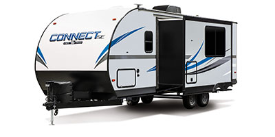 2020 KZ RV Connect SE C231BHKSE Travel Trailer Exterior Front 3-4 Off Door Side with Slide Out