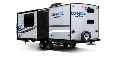 2020 KZ RV Connect SE C231BHKSE Travel Trailer Exterior Rear 3-4 Off Door Side with Slide Out