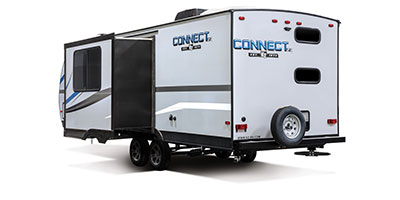 2020 KZ RV Connect SE C241BHKSE Travel Trailer Exterior Rear 3-4 Off Door Side with Slide Out