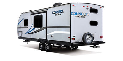 2020 KZ RV Connect SE C241BHKSE Travel Trailer Exterior Rear 3-4 Off Door Side