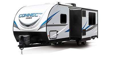2020 KZ RV Connect C251BHK Travel Trailer Exterior Front 3-4 Off Door Side with Slide Out