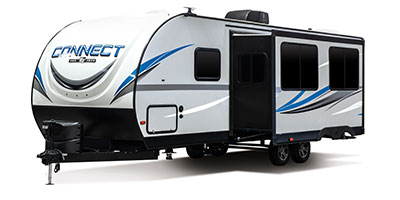 2020 KZ RV Connect C261RB Travel Trailer Exterior Front 3-4 Off Door Side with Slide Out