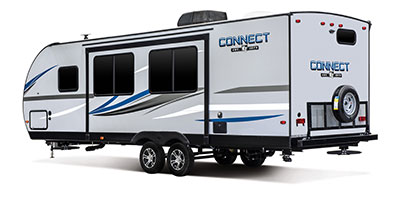 2020 KZ RV Connect C261RB Travel Trailer Exterior Rear 3-4 Off Door Side